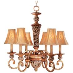 Jessica McClintock's Salon Grand Six Light Chandelier