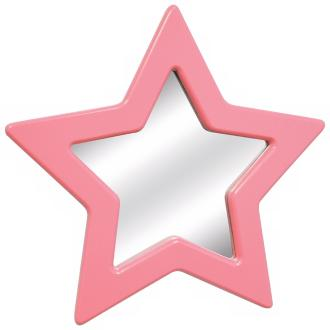 Pink Star Wall Mirror