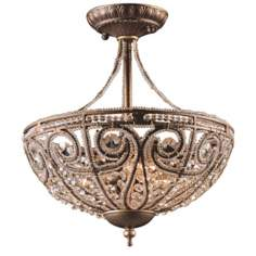 "Bethany Collection 13"" Wide Ceiling Light Fixture"