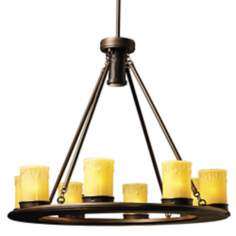 Mission Bronze Low Voltage Outdoor Chandelier
