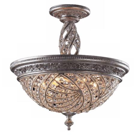 "Genoese Collection Sunset Silver 20"" Wide Ceiling Light"