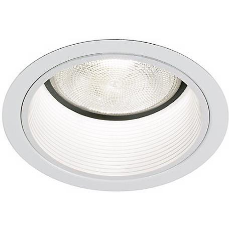 "Lightolier 5"" Line White Baffle Recessed Light Trim"