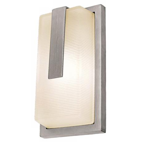 "Neptune Satin Silver Outdoor 13"" High Wall Sconce"