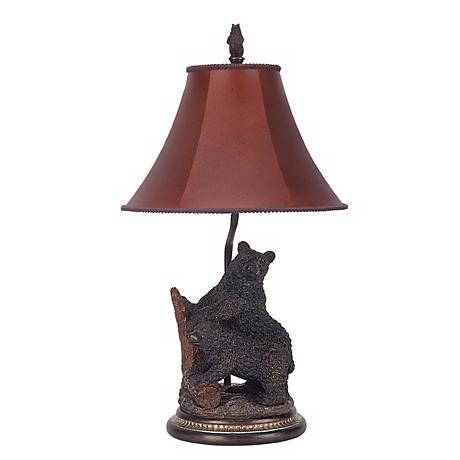 Black Bear Cubs Table Lamp