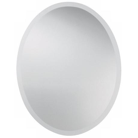 "Uttermost 28"" High Frameless Oval Wall Mirror"