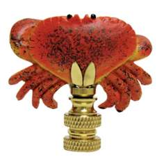 Hand Painted Crab Finial