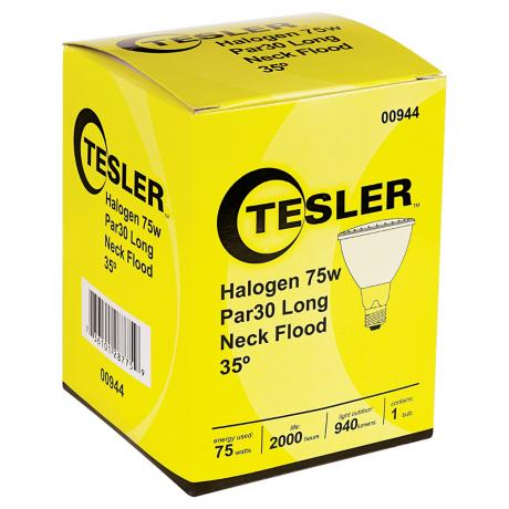 Tesler PAR30 75 Watt Long Neck Halogen Light Bulb