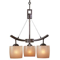 "Raiden Collection Three Light 20"" Wide Chandelier"