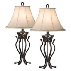 Set of Two Kathy Ireland Helsinki Palace Table Lamps