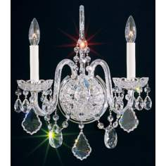 "Schonbek Olde World Collection 16"" High Crystal Wall Sconce"
