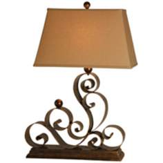 Raschella Iron Scrolling Table Lamp