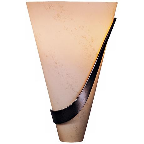 "Half Cone with Sweep Right 12"" High Wall Sconce"