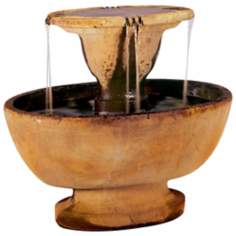 Henri Studios Alfresco Cast Stone Two Tier Fountain