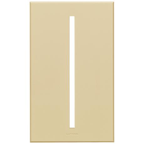 Lutron Vierti Beige Single Gang Screwless Faceplate