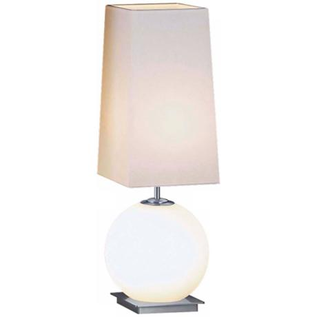 White Square Shade Sm Galileo Halogen Holtkoetter Table Lamp