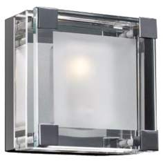 "Nice Cube Frosted Glass 5 1/4"" High ADA Wall Sconce"