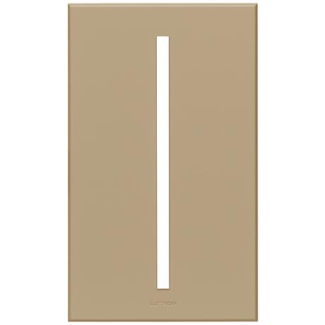 Lutron Vierti Taupe Single Gang Screwless Faceplate