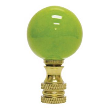 Green Ball Table Lamp Finial