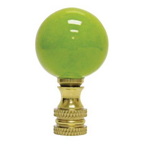 Kiwi Green Ceramic Ball Finial