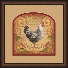 "Pollo Caliente A 19 3/4"" Square Wall Art"