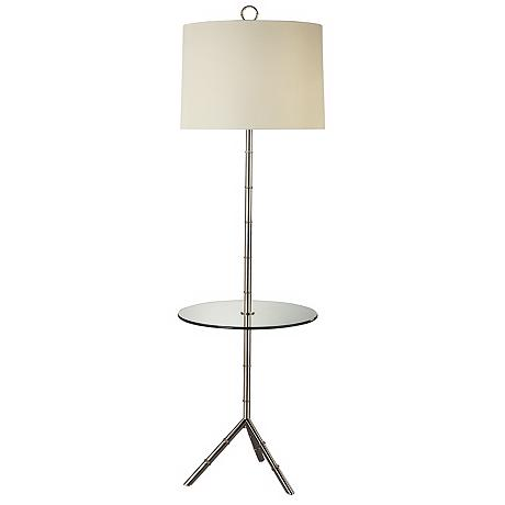 jonathan adler polished nickel tray table floor lamp. Black Bedroom Furniture Sets. Home Design Ideas