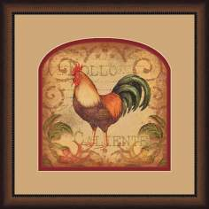"Pollo Caliente B 19 3/4"" Square Wall Art"