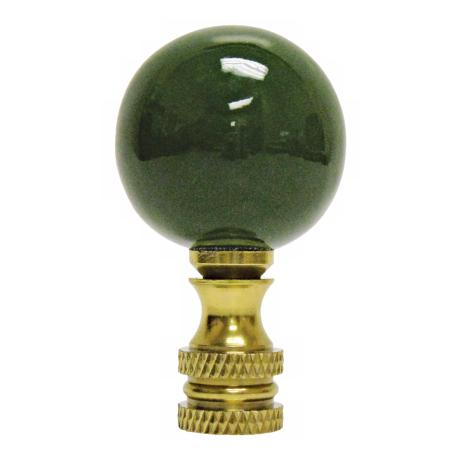 Hunter Green Ceramic Ball Finial