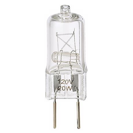 Tesler 20 Watt Clear Bi-Pin G8 Base Halogen Light Bulb