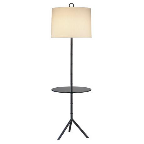 Jonathan Adler Meurice Bronze Tray Table Floor Lamp