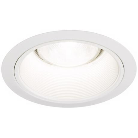 "Juno 6"" White Baffle White Finish Recessed Light Trim"
