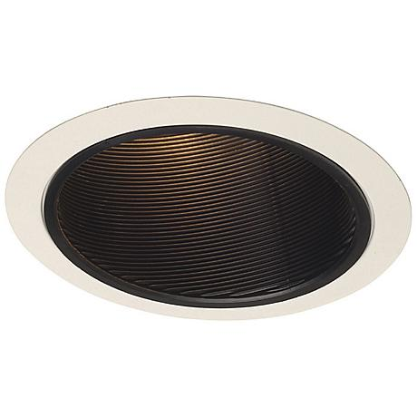 "Juno 6"" Line Voltage Black Baffle Sloped Recessed Light Trim"