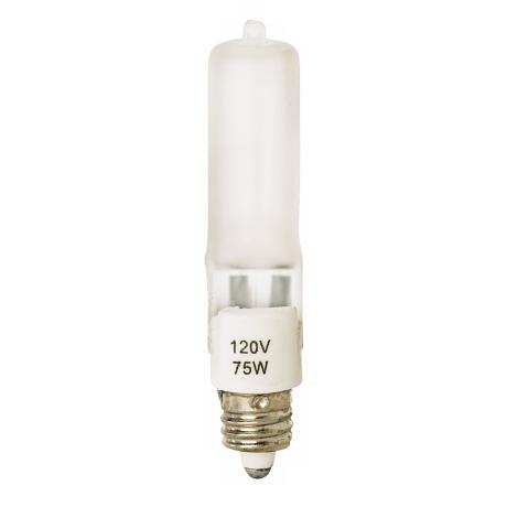 Tesler 75 Watt Mini Candelabra Frosted Halogen Light Bulb