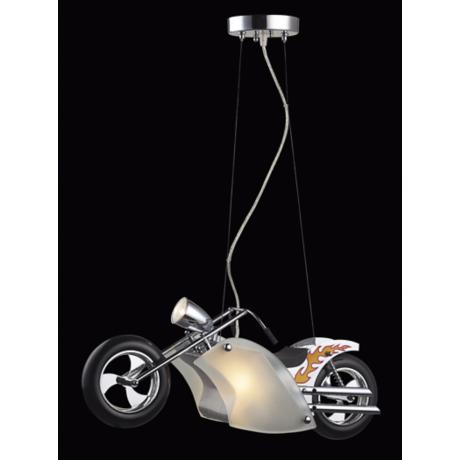 Flame Chopper Motorcycle Pendant Chandelier