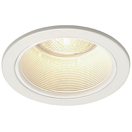 "Juno 4"" Line Voltage White Baffle Recessed Light"