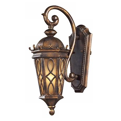 "Montreal Park Amber 18"" High Outdoor Wall Light"