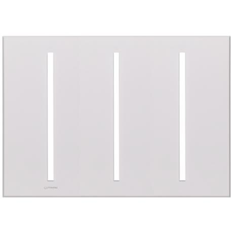 Lutron Vierti White Three Gang Screwless Faceplate