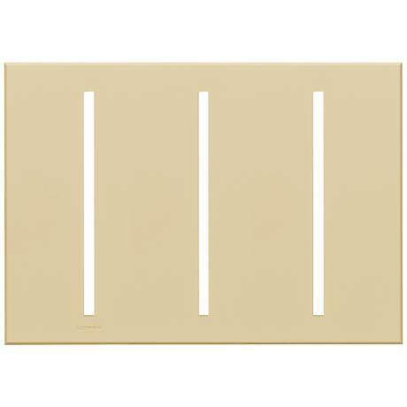 Lutron Vierti Beige Three Gang Screwless Faceplate
