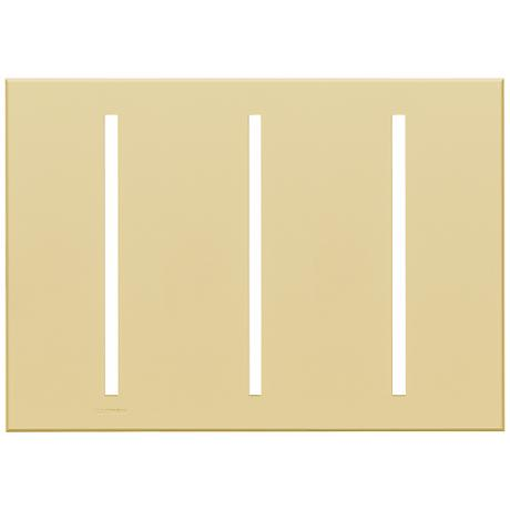 Lutron Vierti Ivory Three Gang Screwless Faceplate
