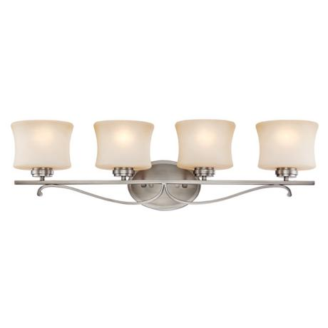 "Aube Collection Pewter 31"" Wide Bathroom Light Fixture"