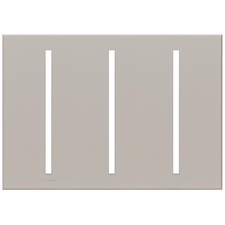 Lutron Vierti Gray Three Gang Screwless Faceplate