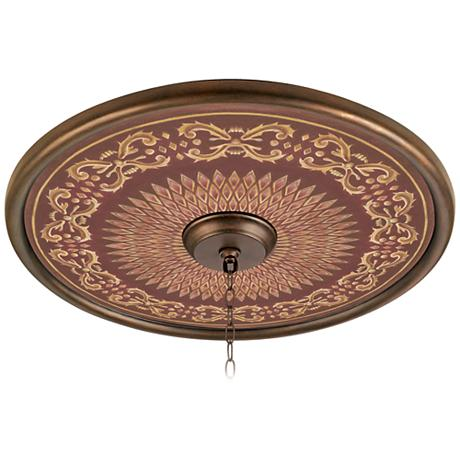 Rustic Verona 24 Quot Giclee Bronze Ceiling Medallion 02777