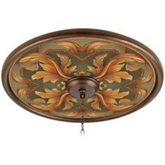 "Etruscan Sunset 24"" Giclee Bronze Ceiling Medallion"