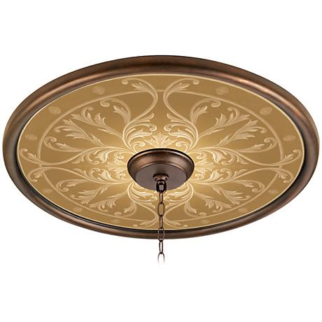 "Tracery Spice 24"" Wide Bronze Finish Ceiling Medallion"