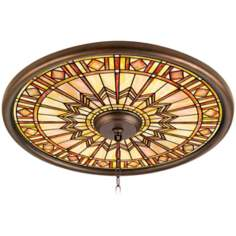 "Mackintosh Sun 24"" Wide Bronze Finish Ceiling Medallion"