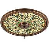 "Olive Dance 24"" Bronze Finish Ceiling Medallion"