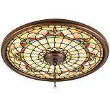 "Tiffany Tracery 24"" Wide Bronze Finish Ceiling Medallion"