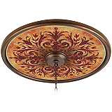 "Tuscan Fire 24"" Wide Bronze Finish Ceiling Medallion"