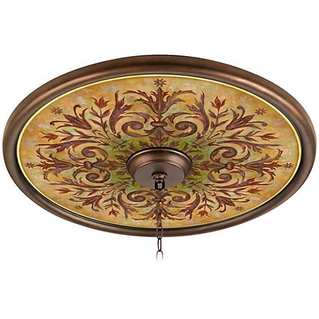 Tuscan Basil 24 Quot Wide Bronze Finish Ceiling Medallion
