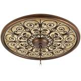 "Madrid Clay 24"" Wide Bronze Finish Ceiling Medallion"