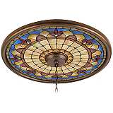 "Tiffany Royal 24"" Wide Bronze Finish Ceiling Medallion"